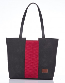 Red centre stripe handbag