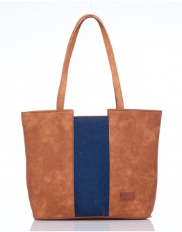 Blue Centre  Stripe Handbag