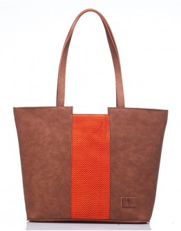 Orange Centre Stripe Handbag