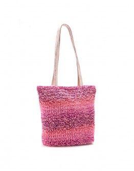 Shades Of Pink Handknitted Tote Bag