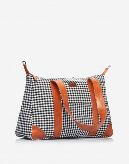 Black & Brown Chequered Big Bag
