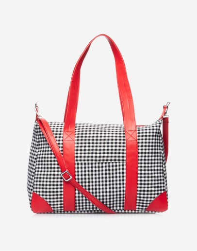 Black & Red Chequered Big Bag