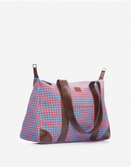 Purple & Red Chequered Big Bag