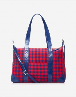 Red & Blue Chequered Big Bag