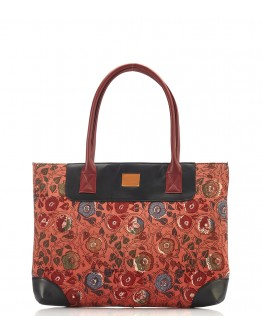 Multicolour printed handbag