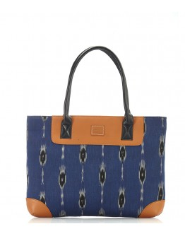 Blue  printed handbag