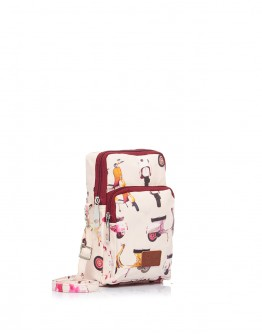 Beige & Maroon Scooter Pouch