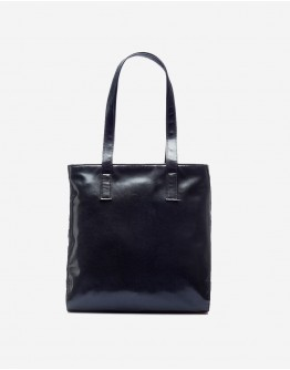 Black Leather Chequered Bag