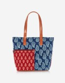 Blue and Red Pocket Tote